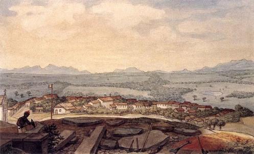 Jean Baptiste Debret - 1827 (primeira imagem conhecida da cidade de Curitiba)